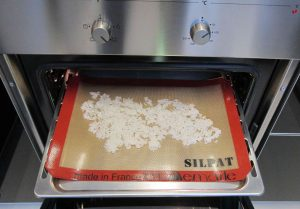 Over cooked rice in baking sheet