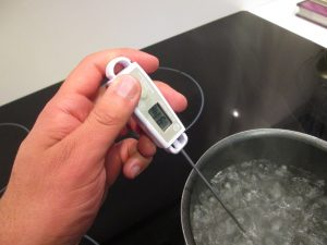 Temperature of boiling water