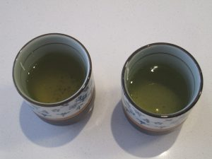 two yunomi with sencha