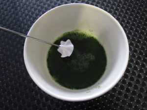 Frothing matcha