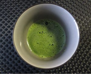 Matcha made with chasen