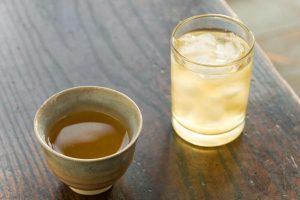 Ishizuchi kurocha brewed
