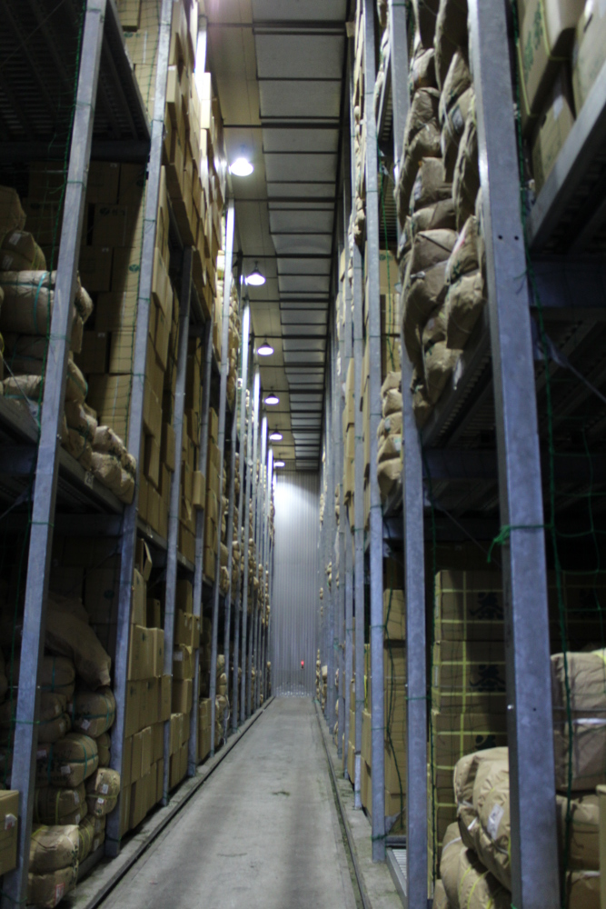 refrigerated warehouse for tea
