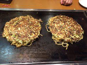 Okonomiyaki at Tsuruhashi Fugetsu