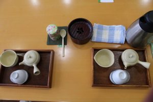 tea set at O-Cha Plaza