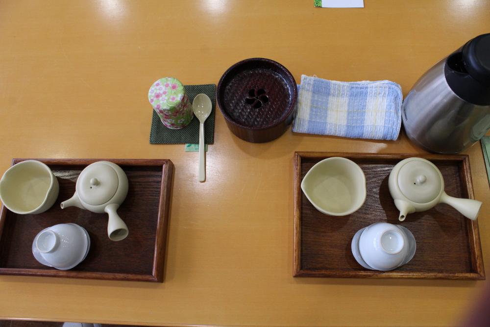 tea set at O-Cha Plaza