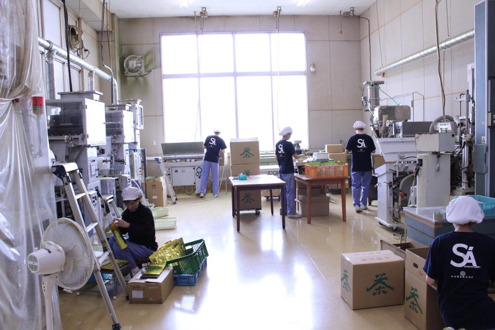 packing room at Sugimoto Seicha