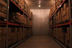 cold storage room at Sugimoto Seicha