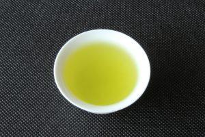 Japanese green tea in Issaku brewed