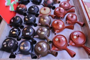 Kyusu teapots at Tea Company Sayamaen