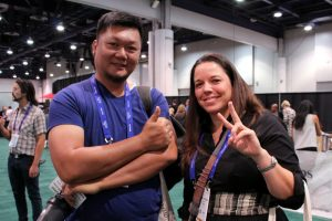 Elyse and Alfredo at WTE2017