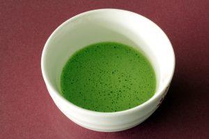 3 Leaf Tea Ceremonial Matcha brewed